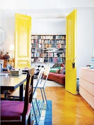 Yellow-interior-door-elle-norway+(blog.ben-evans.com)